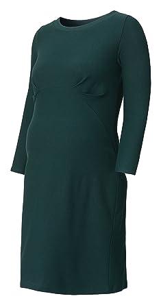 Queen Mum Umstandskleid Stillkleid Wickelkleid Schwangerschaftskleid Kleid  zum Stillen Stillfunktion Empire-Design ¾ Arm C-Ausschnitt grün petrol