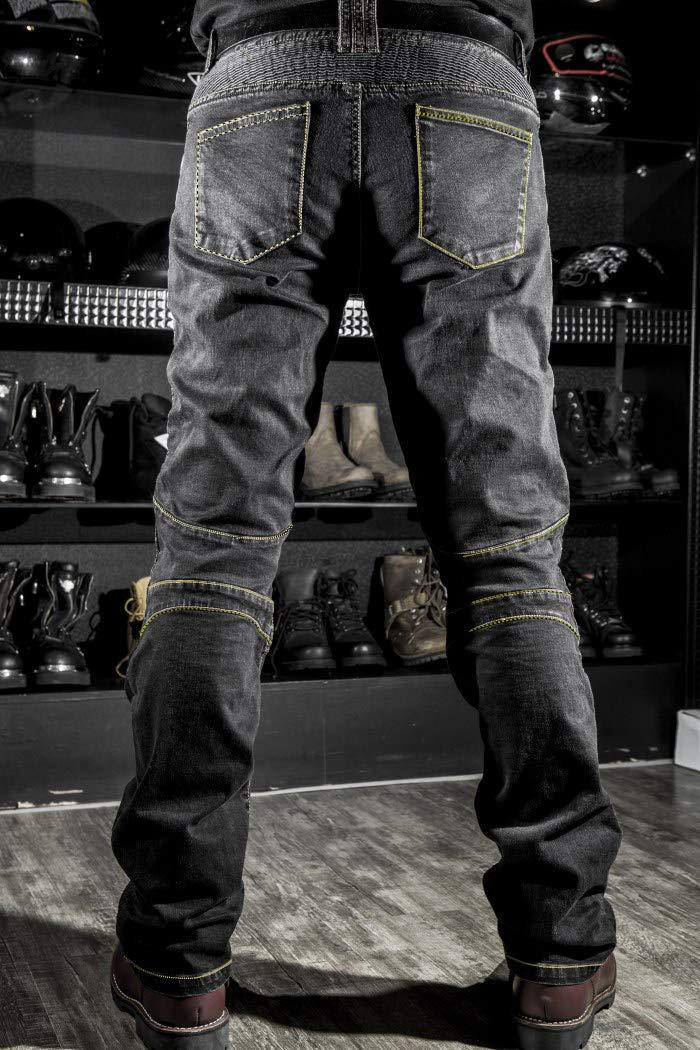 WildBee Pantalones de motocicleta de calle Pantalones de montar para hombres Ciclistas que compiten con cuatro almohadillas protectoras