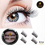 Amazon Price History for:3D Reusable False Magnetic Eyelashes -Dual Magnets,Natural Handmade Extension Fake Eyelashes,1 Pair 4 Pieces (black)