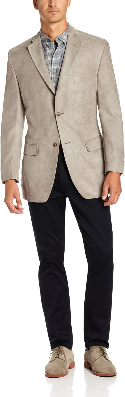 Haggar Mens Twill Two-Button Center-Vent Sport Coat