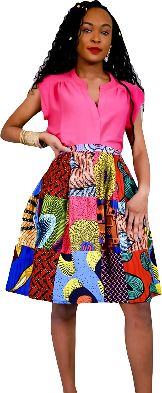 African wax Handmade French Handmade Skirt 90s Ethnic chic print Cotton High-waisted tulip pencil skirt Fendue short mini SM
