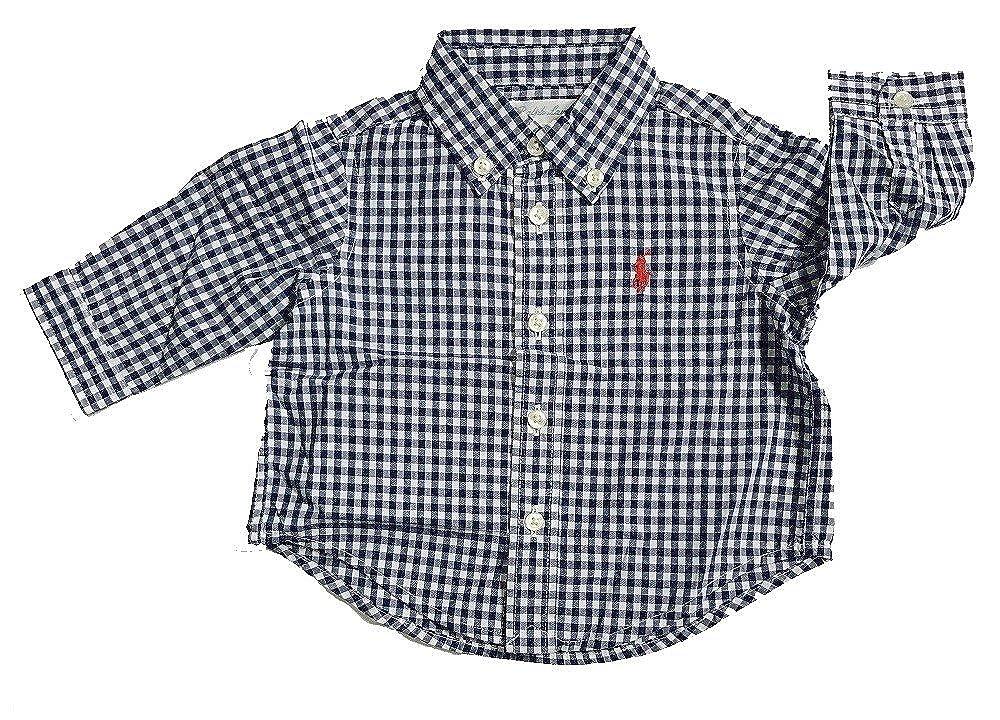 Polo Ralph Lauren Boys Gingham Cotton Poplin Button Down Shirt