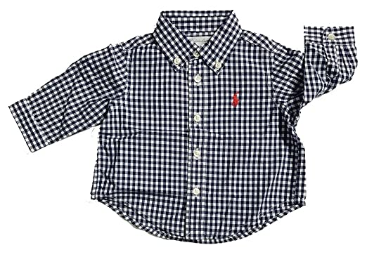 27c3be461 Amazon.com  Polo Ralph Lauren Boys Gingham Cotton Poplin Button Down ...