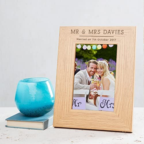 Personalised Wooden Photo Framepicture Frame 6x4 7x5 8x6 Frames