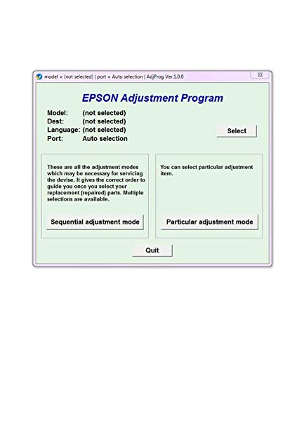 epson adjustment program Resetter Multi PC Compatible With