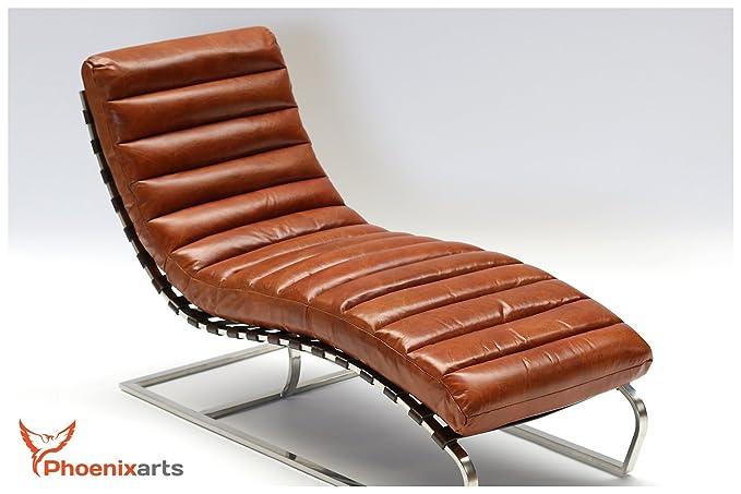 Phoenixarts Chaise Piel Vintage Piel Mendler Diseño ...