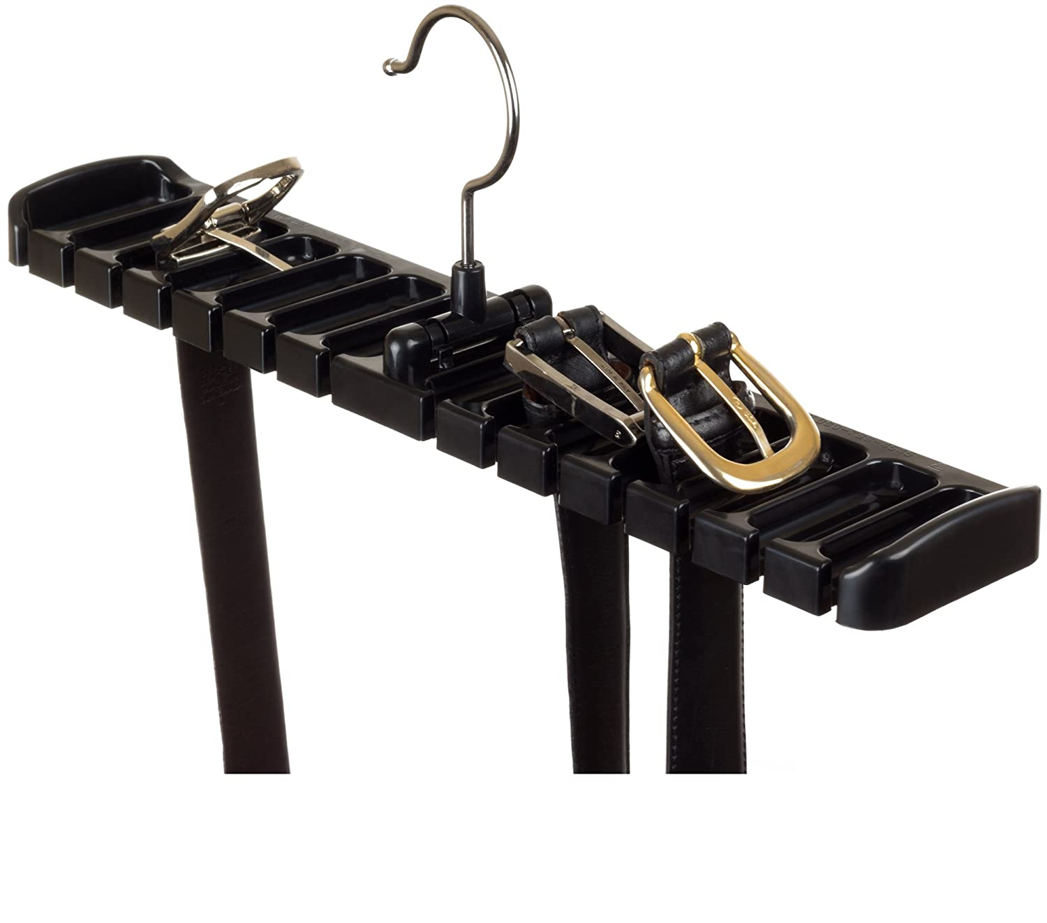Tenby Living Black Belt Rack, Organizer, Hanger, Holder - Stylish Belt Rack, Sturdy ABS Plastic