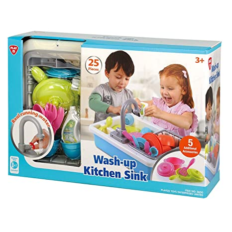 sc 1 st  Amazon.com & Amazon.com: PlayGo Wash-up Kitchen Sink for Ages 3 u0026 up: Toys u0026 Games