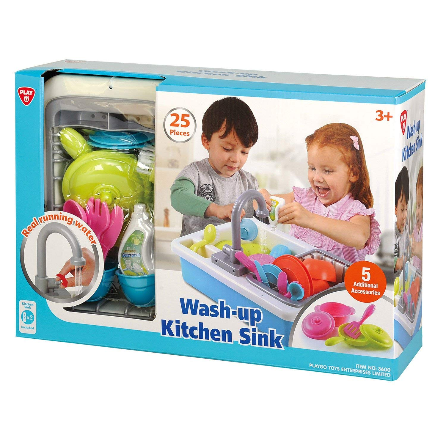 Playgo Wash Up Kitchen Sink For Ages 3 Amp Up Kid Toys 4