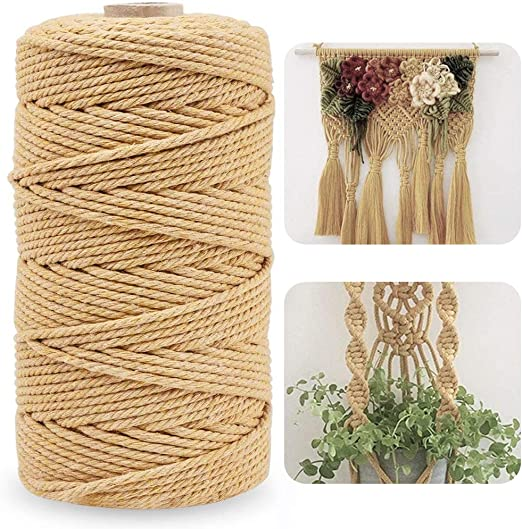 BESLIME - Cordel de 4 mm x 100 m, de algodón de 328 pies para cocina, atar aves de corral, hacer salchichas, manualidades y jardinería: Amazon.es: Jardín