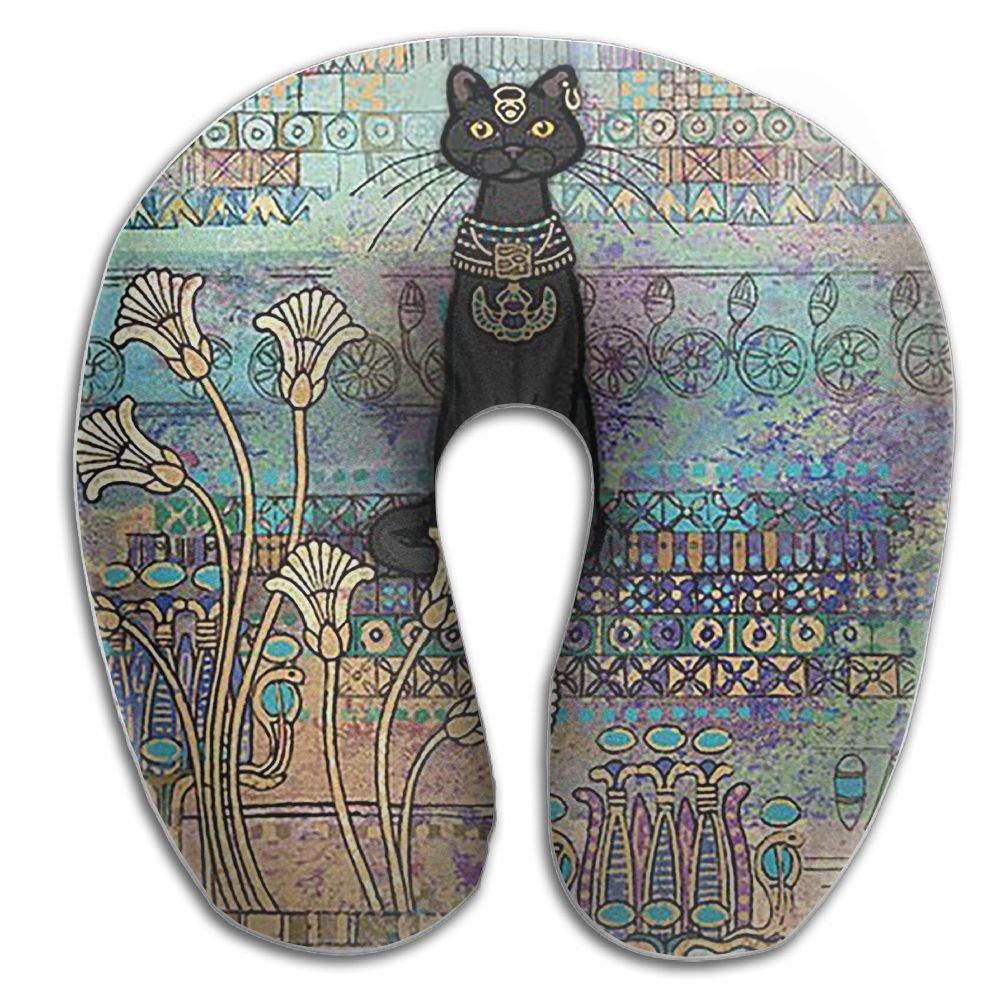 エジプトスタイル猫Cozy首枕旅行枕ネックサポート平面枕首の枕Sleeping B076LYNPZ7