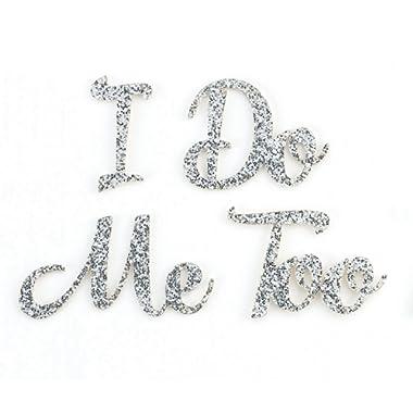 Lillian Rose I Do Me Too Bride Groom Wedding Shoe Stickers