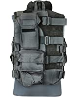 Gilet tactique avec garniture en cuir Outdoor Vest Paintball Armée Airsoft Gilet Olive ou Noir