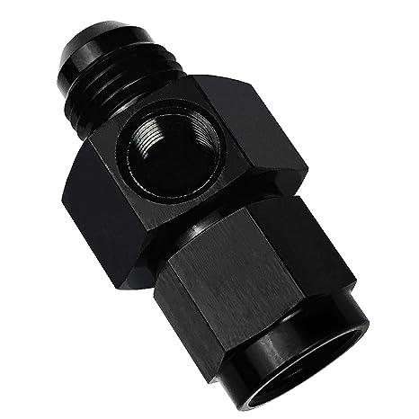 "6 AN Male 6 AN Female ; 1//8/"" NPT gauge adapter black"