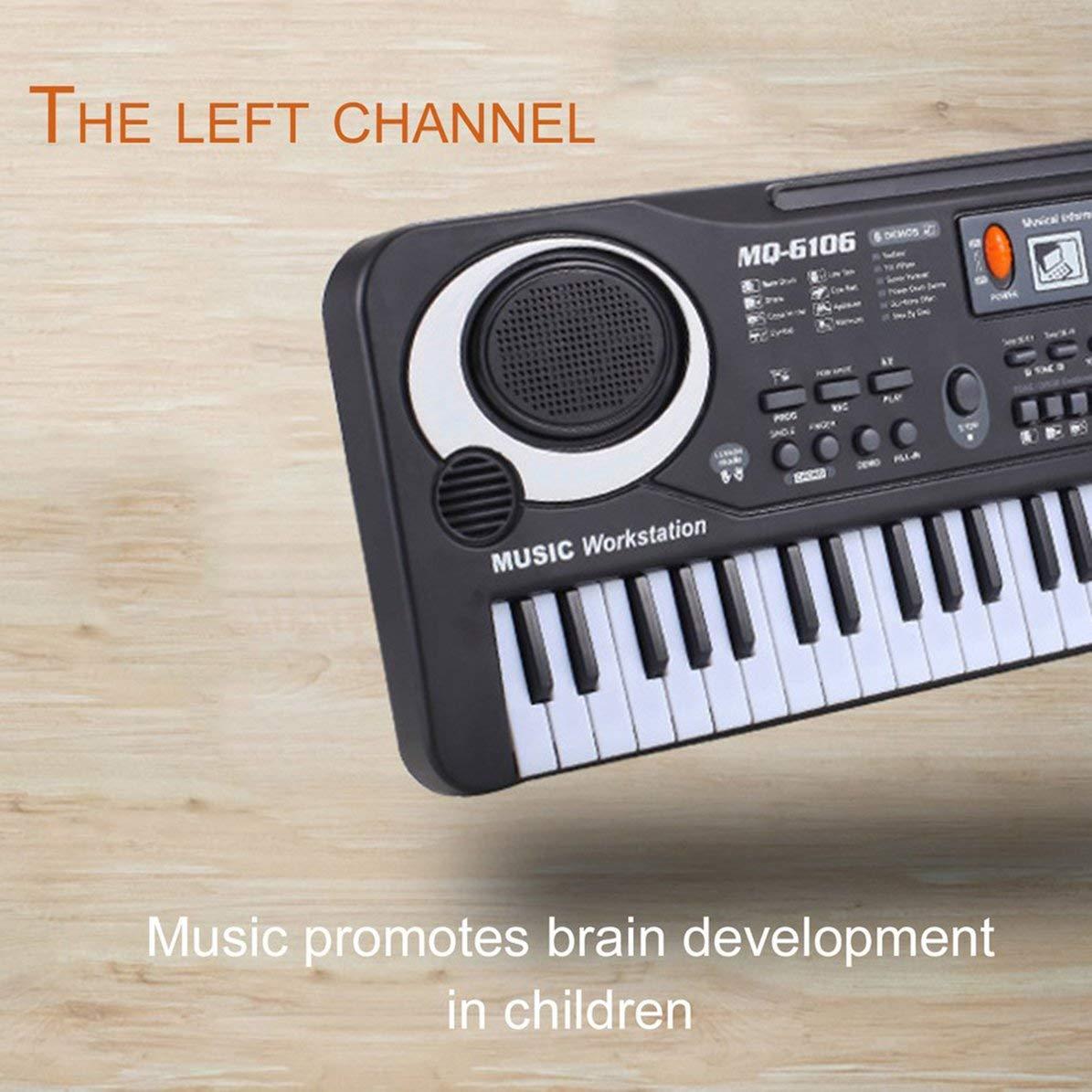 61 Teclas Música Electrónica Teclado Órgano Eléctrico Con Micrófono Niños Instrumento Musical Herramienta Educativa Temprana Para Niños: Amazon.es: ...