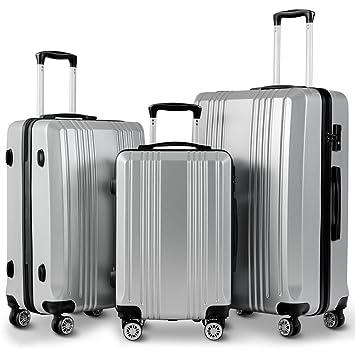 1501adedb242 Goplus Luggage 3 Piece Set Expandable Lightweight Hardside Suitcase for  Travel w/TSA Lock (Grey)