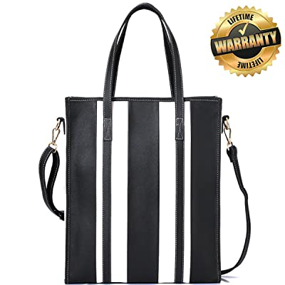 Stylish Womens Leather Tote Bag for Laptops up to 15.6 Inches- Everyday Carryall Fashion Handbag free shipping