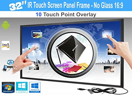 Amazon.com: LCD / LED 10 Touch IR Overlay Touch Screen Frame Panel ...