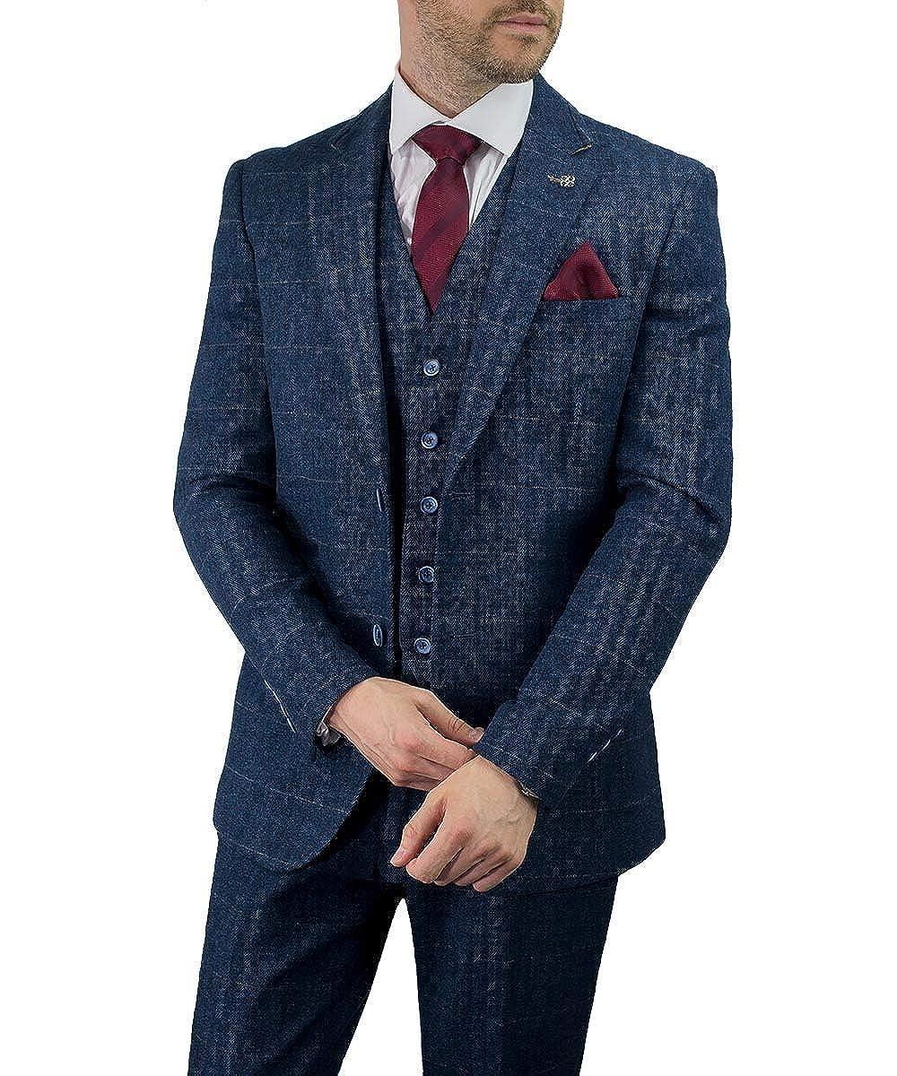 Marine Tweed Fit Regular Carnegi Chèque Pièce Cavani Costumes Blazer 3 34jALqR5