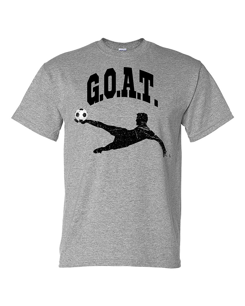 Custom Apparel R Us G.O.A.T Soccer Mens Short Sleeve