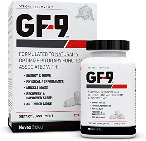 GF-9 – 120 Count - Supplements for Men - Male Supplements - Boost Critical Peptide That Supports Energy, Drive, Physical Performance & More
