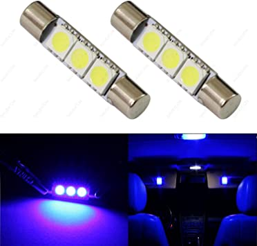 2 Pieces Luminous Green F30-WHP Fuse 6614F Sun Visor Vanity Mirror 5050 3-SMD