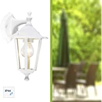 Brilliant 40282/05 Crown - Lámpara de pared para exteriores (1 bombilla de 60 W), color blanco