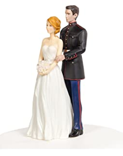 Amazon.com: Marine Corps Wedding Cake Topper: Kitchen & Dining
