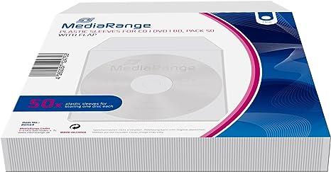 MediaRange BOX64 Estuche de CD y DVD - Funda (Gris, De plástico): Amazon.es: Informática