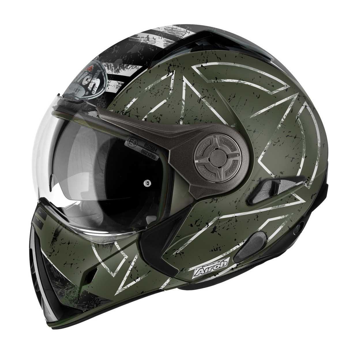 Command Green 60-L Vert Airoh Casque de Moto Modulaire