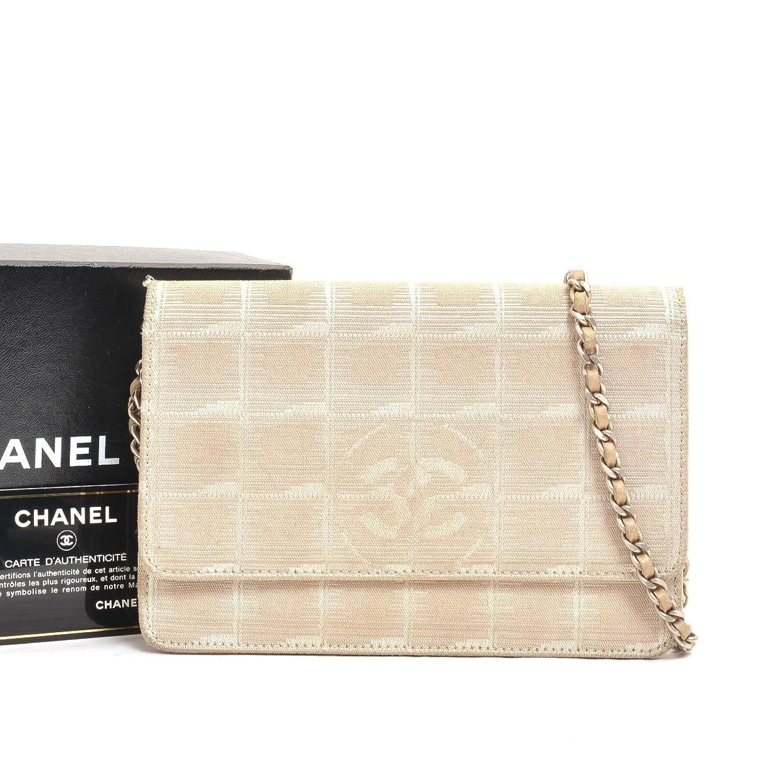 (シャネル)CHANEL 財布その他ニュートラベルライン チェーンウォレット キャンバス ベージュ 中古 B0786GBCQ7