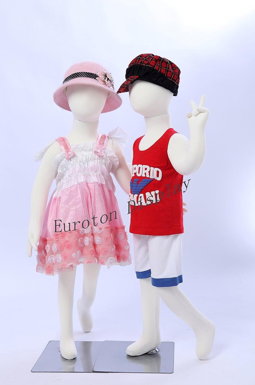 Eurohandisplay R4x 2,2x Bambole di bambino, 95cm, manichino per vetrina di bambino, con corpo flessibile e pieghevole Eurohan GmbH
