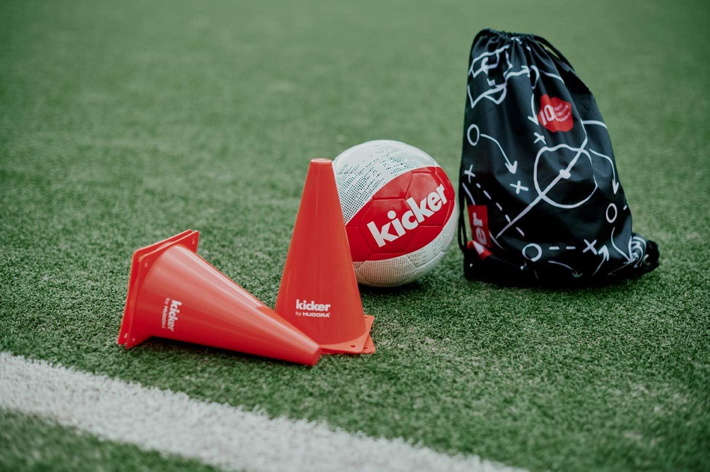Hudora, Matchplan INKL. Fußball (Gr. 5), Ballnadel, Gym-Bag & 4 ...