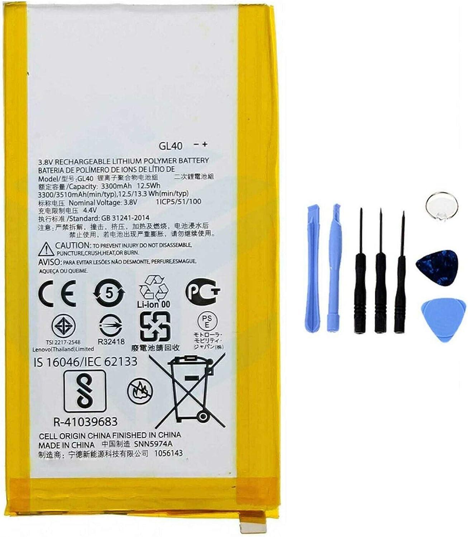 Ellenne Batterie Compatible avec Motorola Moto Z Play XT1635 GL40 Haute capacit/é 3510 mAh avec kit de d/émontage Inclus