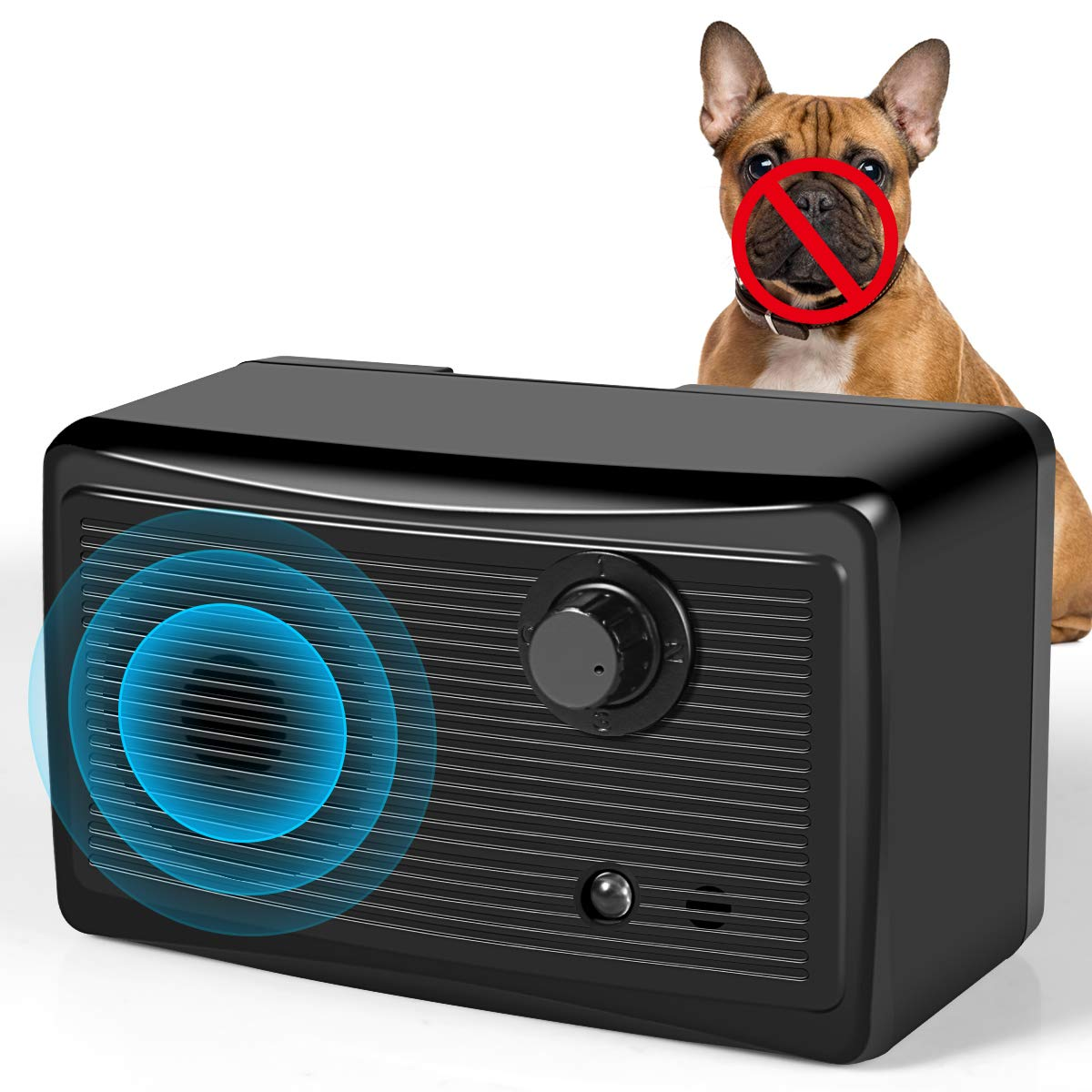 Bark Control Device, Upgraded Mini Bark Control Device Outdoor Anti Barking Ultrasonic Dog Bark Control Sonic Bark Deterrents Silencer Stop Barking Anti Barking Device by PETBROO