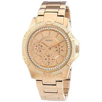 0169957f50f1 Guess Reloj Análogo clásico para Mujer de Cuarzo con Correa en Acero  Inoxidable W0235L3  GUESS  Amazon.es  Relojes