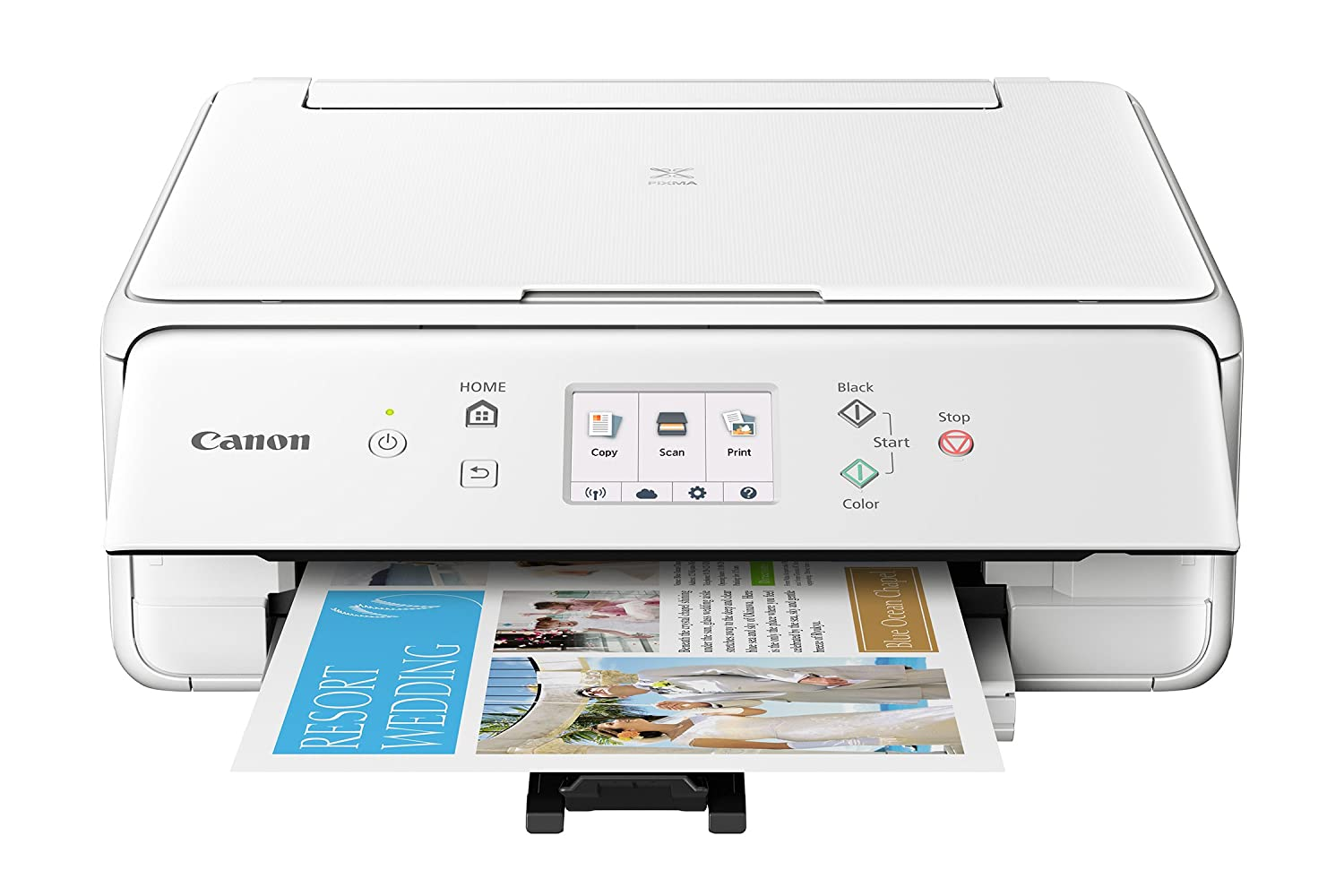 925db6777604 Canon TS6120 Wireless All-In-One Printer with Scanner and Copier: Mobile  and Tablet Printing, with Airprint(TM) and Google Cloud Print compatible,  White