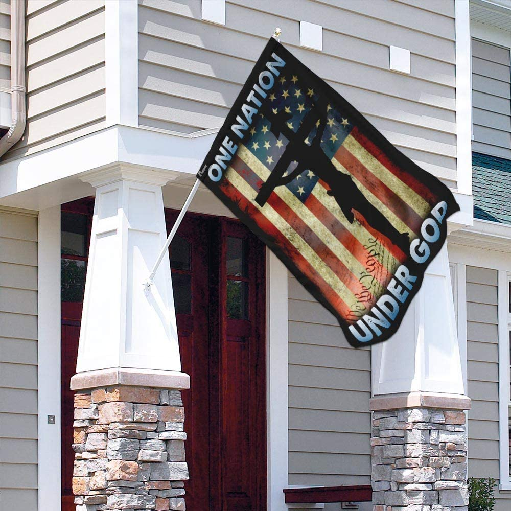 One Nation Under God Flag MLH983F Garden and House Flag