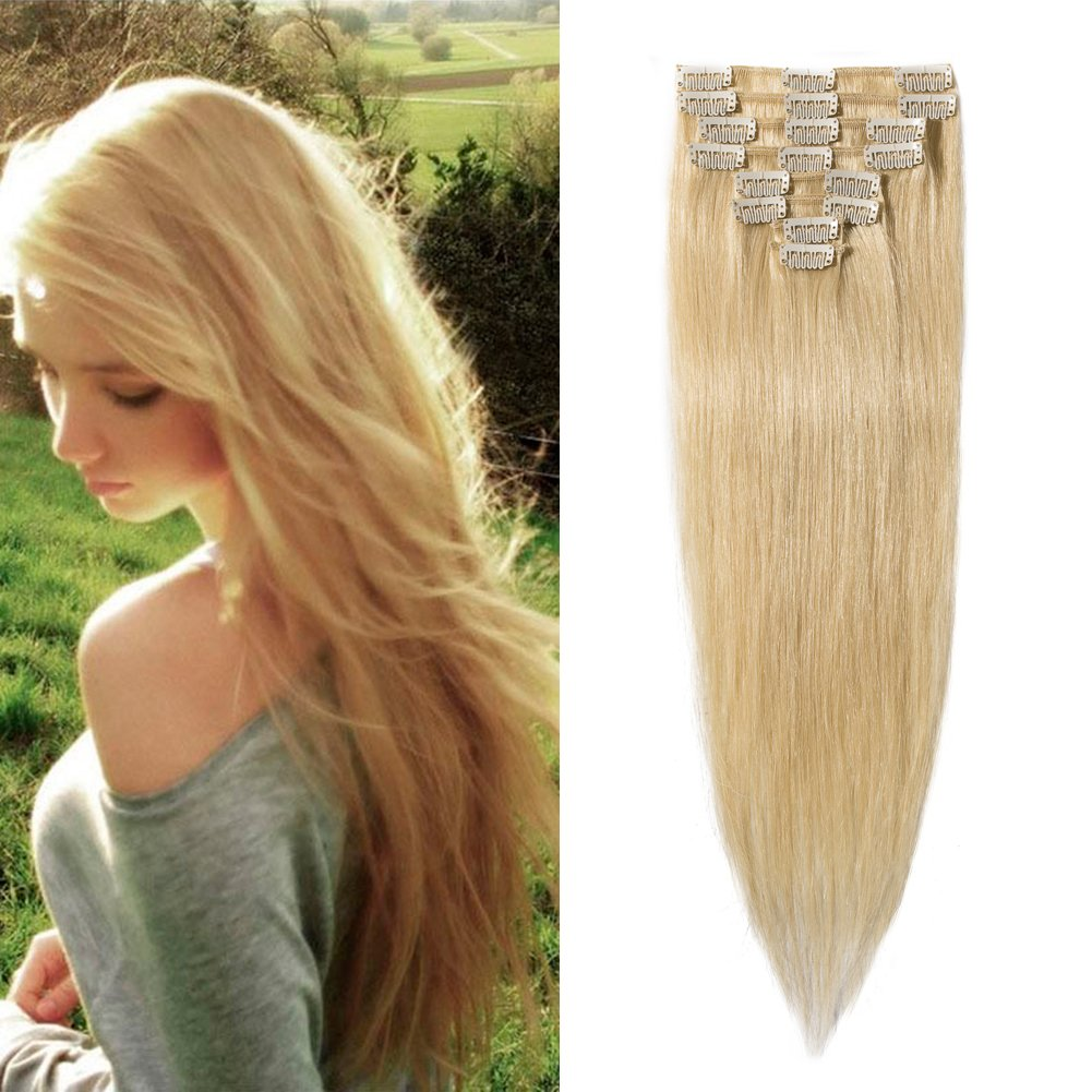 Amazon 16 22inch 100 Real Remy Clip In Hair Extensions Grade