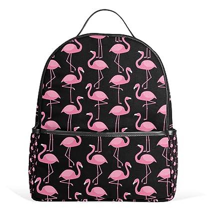COOSUN Patrón de los flamencos rosados mochilas escolares mochilas para Niños Niñas Adolescentes Niños