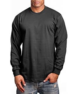 b17cecb0c 4 Pack PRO 5 T Shirts White Black Charcoal Grey Plain Crew Neck Tees ...