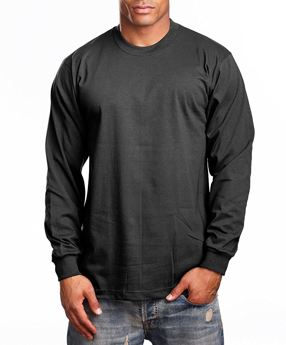 25fd0e1f6a30ee Amazon.com: PRO 5 Super Heavy Mens Long Sleeve T-Shirt: Clothing