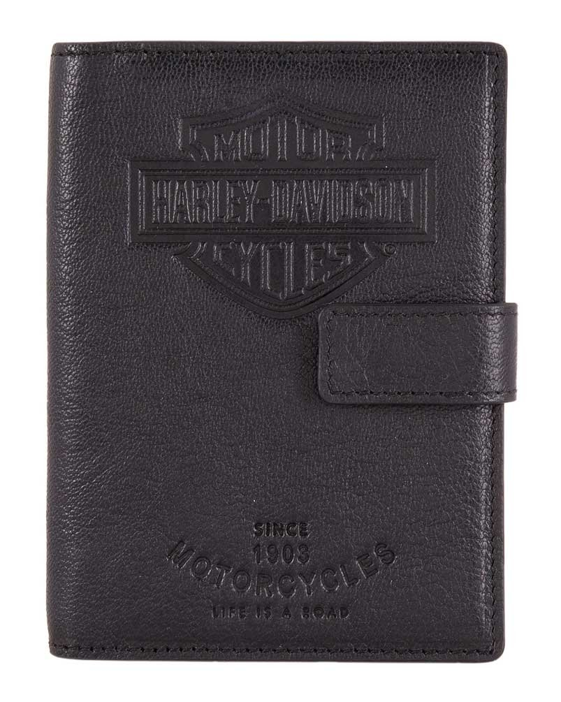 Harley-Davidson Bar & Shield Classic Passport Wallet, Genuine Leather HDMWA11490 by HARLEY-DAVIDSON