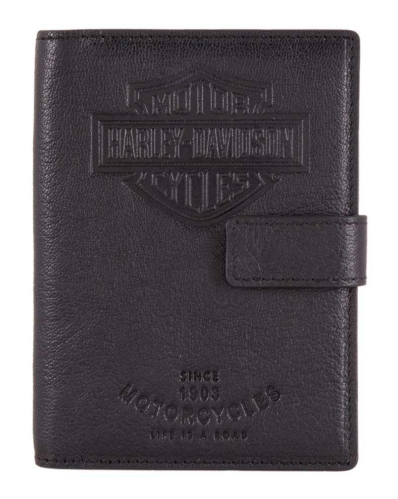 Harley-Davidson Bar & Shield Classic Passport Wallet, Genuine Leather HDMWA11490