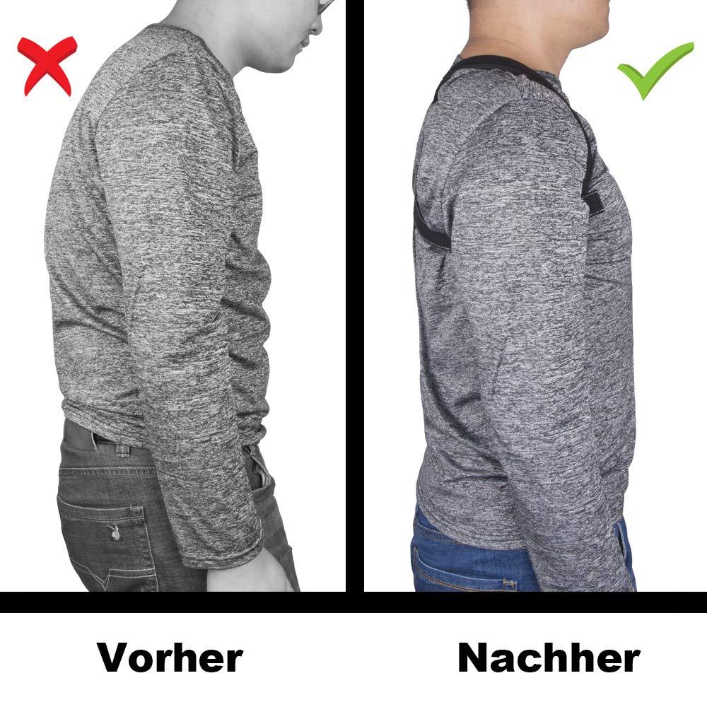 R/ückenbandage und Schulter R/ückenst/ütze f/ür den oberen R/ücken Geradehalter zur Haltungskorrektur R/ückenstabilisator f/ür Perfekte Haltung f/ür Damen und Herren