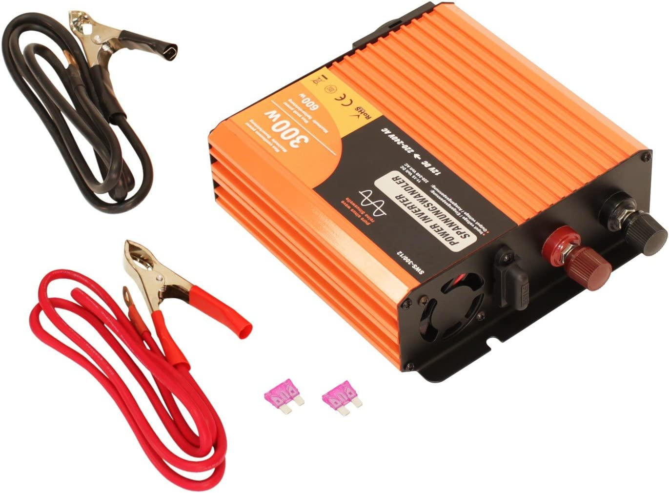 convertisseur de tension pur sinus 300W 600W 12V 230V pure Transformateur
