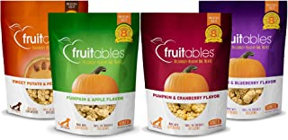product image for Fruitables All Natural 7 Ounce Pumpkin Baked Crunchy Dog Treats, Variety Pack of 4