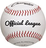 Champion Sports Leather Baseball Set: Dozen Indoor/Outdoor Genuine Leather Official League Baseballs for Practice Training or Real Game - Pack of 12