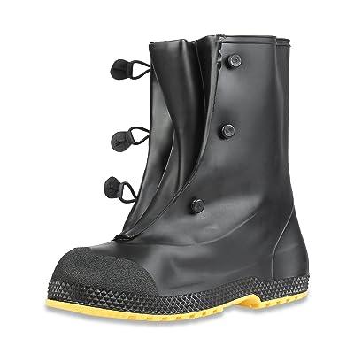 """Servus SuperFit 12"""" PVC Dual-Compound Men's Overboots, Black (11001-Bagged), M (size 9-10 boots): Home Improvement"""
