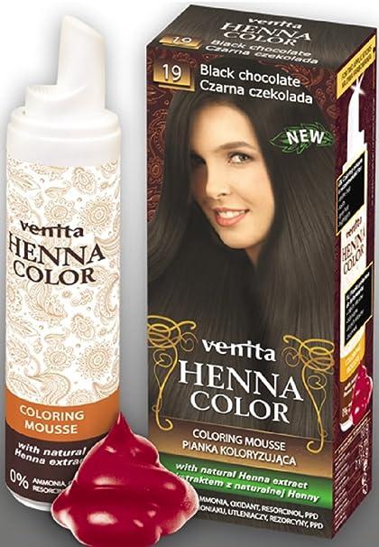 Venita Henna Color Mousse Espuma de Tinte para el Cabello con ...